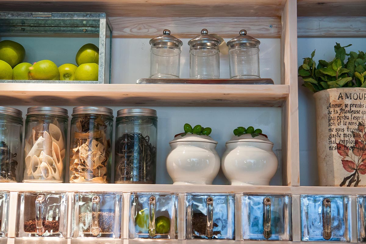 For Small Kitchens - Emphasize Storage